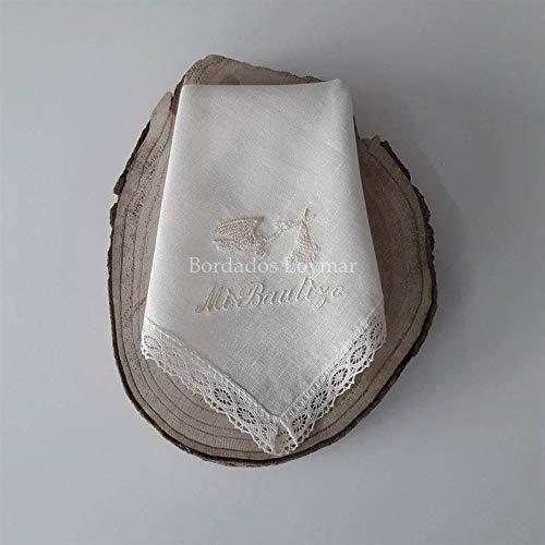 Pañuelo/Paño de Bautizo Personalizado con Nombre y Fecha