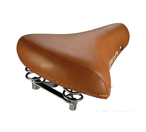 Sillin de Bicicleta PASEO CITY Suspension Muelles Eco PIEL MARRON claro 3870Mcl