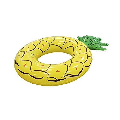 LEMON TREE SL Flotador piña Hinchable diseño Amarillo Adulto Medidas 133 cm. Flotador Fruta para Playa o Piscina Piña Pineapple.