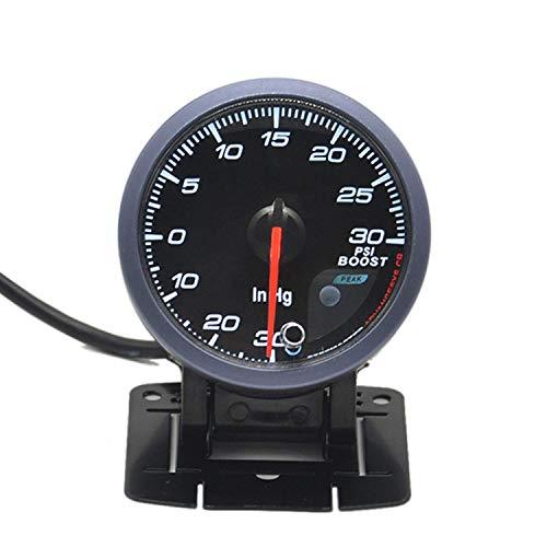 JF-XUAN 60 MM Coche 12V Turbo Boost Gauge -30~30 PSI con el Sensor del medidor Turbo Boost for el Coche del Carro del Barco Pieza del vehículo
