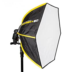 SMDV D60 II Firefly Pro Beauty Softbox Diffuser (light area 60 cm, suitable for flash units) black / yellow