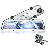 YJCol Streaming Dashcam mit 10' Touchscreen,FHD Autokamera vorne und hinten 1440P/1080P HD IP68 Wasserdicht Rückfahrkamera mit Nachtsicht, Parkplatz-Überwachung,Bewegungserkennung