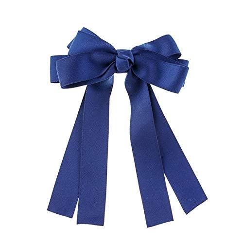 KUHRLRX Élégant Ruban De Satin Bowknot Pince À Cheveux Casual Bande De Cheveux en Épingle À Cheveux Barrettes Cheveux Accessoires pour Femmes Fille,Bleu