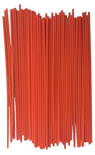 """(50 Pack) 6"""" Aerosol Spray Can Red Plastic Straws - Tip Extension Tubes For Automotive Lubricant, Cleaner, Penetrating Oil"""