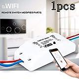 KOBWA Smart Switch - Mando a Distancia inalámbrico con WiFi multifunción para el hogar, Compatible con Alexa Echo Geogle Home Via iPhone Android App (1 Pack)