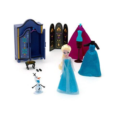 Disney, Die Eiskönigin - völlig unverfroren - Garaderoben-Spielset ; Set enthält eine bewegliche