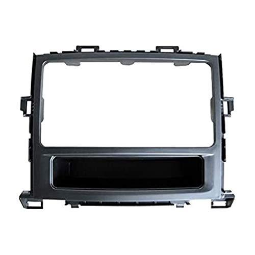 Rumors Coche Estéreo Radio Fascia Panel Trim con Ajuste 2 DIN Frame Fit para Toyota Alphard 2008-2015 7 Pulgadas