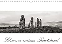 Schwarz-weisses Schottland (Wandkalender 2022 DIN A4 quer): Schottland im Breitbildformat (Monatskalender, 14 Seiten )
