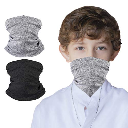 Neck Gaiter Bandana Girl Boy, Magical Multi Function,Half Face Mask Protective Balaclava, Kids Headwear, Toddler Headgear, Infinity Scarf, Safety Head Cover for Saliva and Anti-Dust Protection