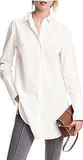 IRISIE Womens Women's Casual Wild Long-Sleeved Boyfriend Shirt Knee-Length Dress Shirt