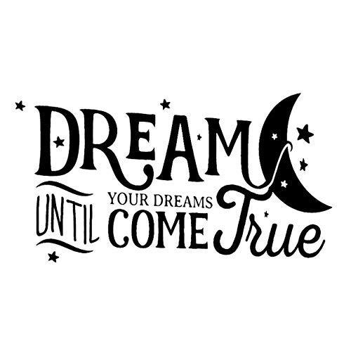 Droom tot je dromen komen waar huis Decor PVC woonkamer muur Sticker 65x34cm