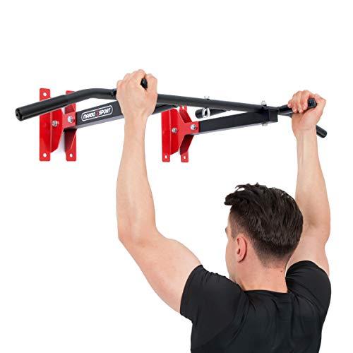 Marbo Sport universelle Klimmzugstange für Wand- oder Deckenmontage mit Boxsackhalterung MH-D202 2.0