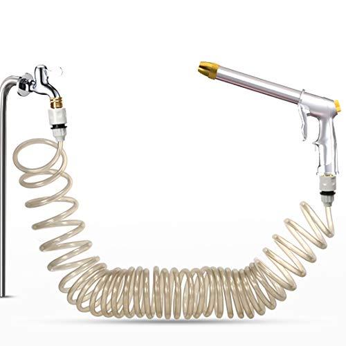 Tubo flessibile da giardino a bobina, ultra leggero e portatile10-40m EVA Water Tubo flessibile per acqua, con pistola ad alta pressione Pistola a spruzzo impermeabile con connettori di alta qualità c