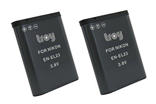 Troy 2x Batería para Nikon Coolpix B700P600P610S810C P900ENEL23EN-EL23