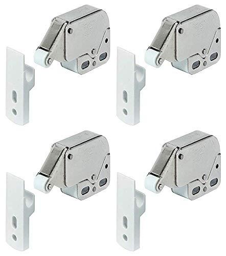Mini-Schnappverschluss für Schränke, Wohnwagen, Wohnmobil, Schranktüren, Top-Qualität, 4 Stück