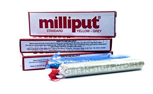 Masilla Milliput Estandar - Yellow-Grey - Masilla Epoxi Bicomponente Modelismo