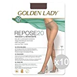 Golden Lady Set 10 Repose 20 Visone 2 Calze Collant da Donna Abbigliamento E Accessori, Mu...