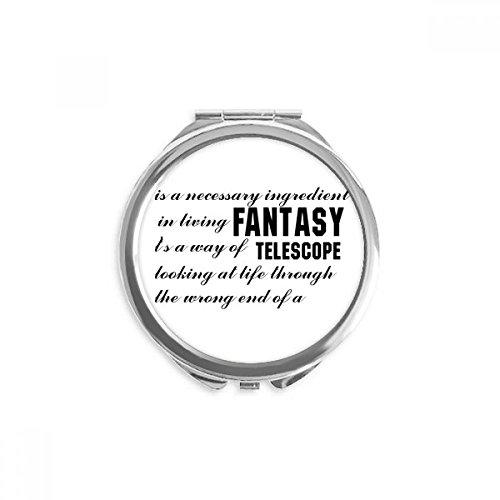 DIYthinker Fantasie ist hier Zitate Spiegel Runder bewegliche Handtasche Make-up 2.6 Zoll x 2.4 Zoll x 0.3 Zoll Mehrfarbig