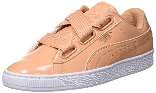 Puma Basket Heart Patent Wn's, Zapatillas para Mujer, Naranja (Dusty Coral), 41 EU