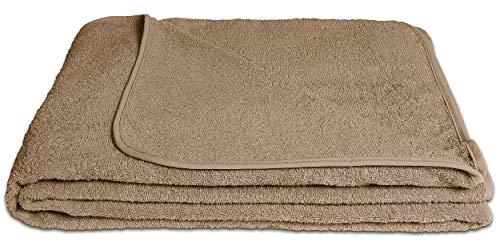 KiGATEX Frotteedecke Sommerdecke softig weich 100prozent Baumwolle 150x200 cm Öko-Tex Zertifiziert (Sahara)