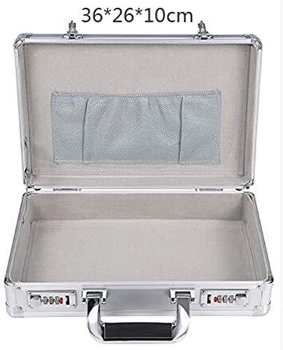 Gereedschapskist Goede Kwaliteit Aluminium Code Tool Case Toolbox Business Advisory Man Draagbare koffer Aktetas toolbox ZILVER