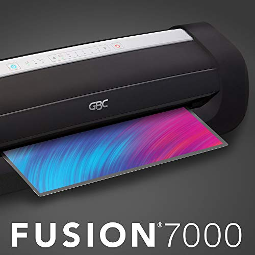 GBC Thermal Laminator Machine, Fusion 7000L, 12 Inch, 1 Min Warm-Up, 3-10 Mil, with 50 EZUse Laminating Pouches (1703098F)
