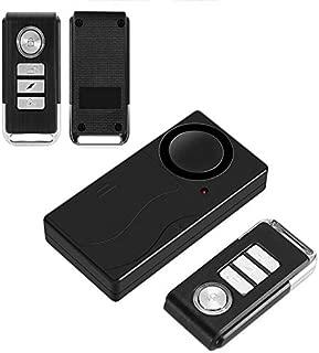 Electz Wireless Vibration Alarm, Anti-Theft Burglar Alarm for Bicycle/Bike/Motorcycle/Car/Vehicles/Door/Window, 110db Super Loud (Remote Control Included)