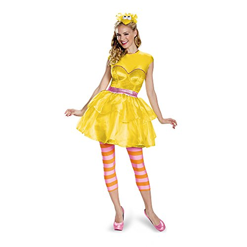 Disguise Women's Big Bird Sweetheart Dress Costume, Yellow, Medium