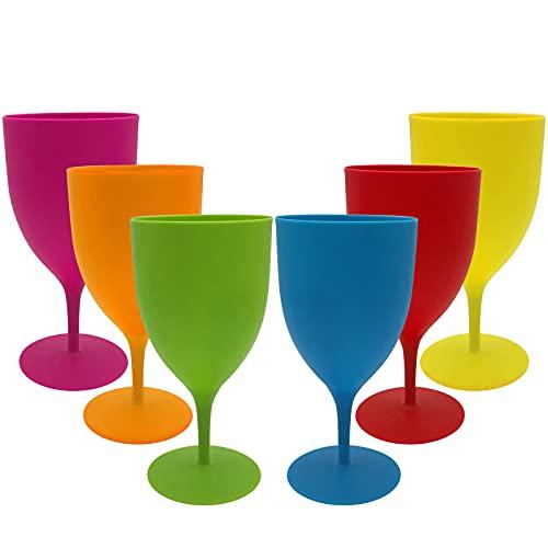 Copas De Vino Plastico Marca GJCrafts