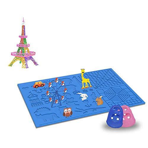 ZXCASD 3D Druckstift Vorlage,3D Stifte Matte,große Matte mit Tiermuster hilfreich für Anfänger,Kinder und 3D