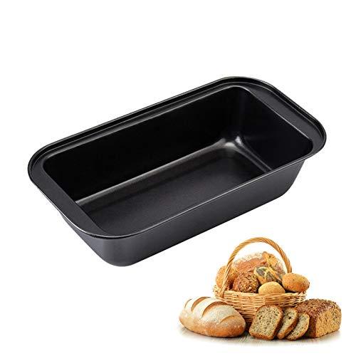 RoxNvm Molde para pan sin tapa, Bandeja para tostar rectangular, Molde para hornear antiadherente con revestimiento de teflón, duradero, distribución uniforme del calor, para pasteles, panes