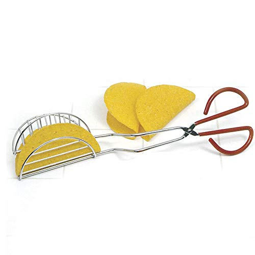 HnF Taco Press, Taco Press Mold Shell Maker Stainless Steel Tortilla Fryer Tongs, Scissor Cooking Tongs Buffet Party Catering Serving Tongs, for Bake Pancake Biscuit