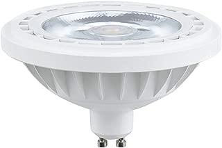 Bonlux 12W LED AR111/ES111 GU10 Spotlight - 120V COB LED GU10 Track Light Bulb, 100W Halogen Replacement Bulb 24°Beam Angle Ceiling Light Recessed Light, Warm White 2700K (120V GU10 Base)