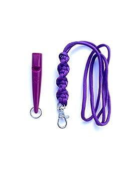 Acme 210.5Sifflet pour chien cordon & avec l'Orge Twist Noeud 3mm en violet