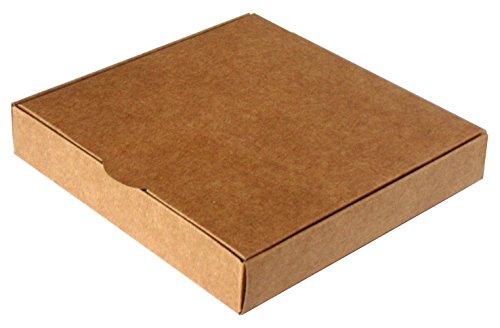 Caja para regalo automontable, set 20 unidades 14 x 14 x 2,5 (Kraft)