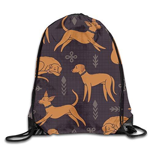 GMGMJ Happy Dog - Mochila con cordón para yoga, para senderismo, viajes al aire libre
