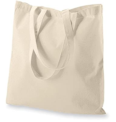 Green Atmos reusable 20 pack 15 X 16 inch reusable grocery bags 5.5 oz cotton canvas tote eco friendly super strong reusuable washable great choice for promotion branding and gift
