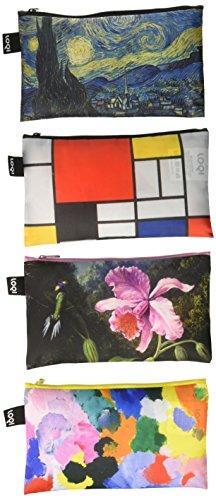 LOQI Museum Zip Pockets, (Set of 4), Multicolor