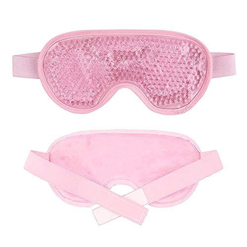 Paquete de hielo Máscara de ojos Gel de verano Paquete de hielo Máscara de ojos Pvc Sueño Pausa para el almuerzo Máscara de ojos fresca Máscara de sueño-Rosa