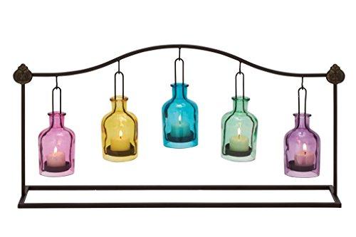 Uniquely Designed Metal Glass Votive Holder
