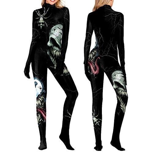 xmansky Für Weihnachten Halloween Party, Zuhause, Kamin, Hotel, Bar,Damen Halloween Kostüm Strumpfhose Body Langarm Zipper One Piece Unterwäsche