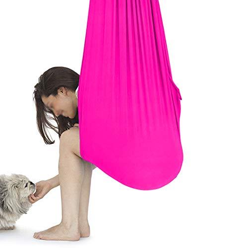 WCX Columpio Swing Hamaca Oscilación Columpio De Terapia Exterior Interior para Niños con Necesidades Especiales con Autismo Camping Al Aire Libre (Color : Rose Red, Size : 150 * 280CM)