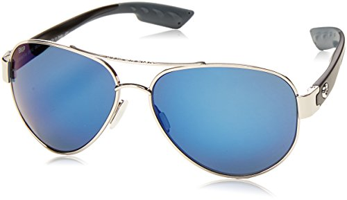Price comparison product image Costa Del Mar South Point Sunglass Palladium Silver / Blue Mirror 580Plastic