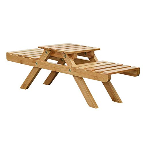 LLYU Présentoir en bois créatif d'usine de fleur, cadre de jardin de support de stockage extérieur/intérieur