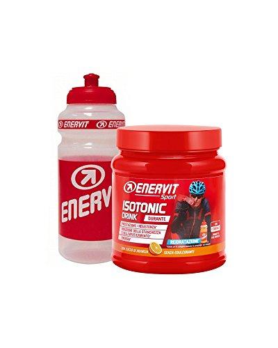 Enervit Isotonic Drink 420 gr Sali Minerali Potassio e magnesio Borraccia Gusto arancia + Borraccia