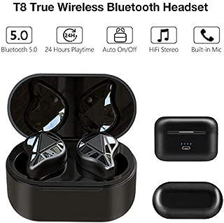 RONSHIN T8 Auto Pairing Bluetooth Earphone 5.0 True Wireless Headset TWS Earbuds HiFi BT 5.0 Headphones with Charging Box