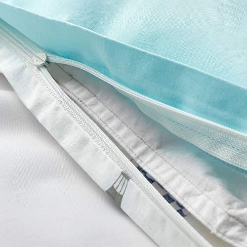 IKEA UPPTåG Bettbezug und Kissenbezug 150x200/50x60 cm Luftballon Muster / Blau