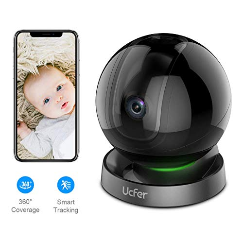Ucfer 1080P WiFi Smart Home Security Camera, Baby Monitor, Pet Camera, H.265 Wireless Indoor Camera...