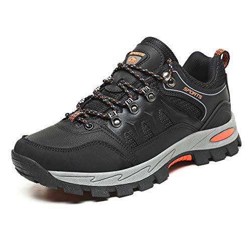 Ulogu Chaussures de Randonnée pour Homme Femme Légères Chaussures de Marche Antidérapant Respirant Chaussures de Trekking Noir 43