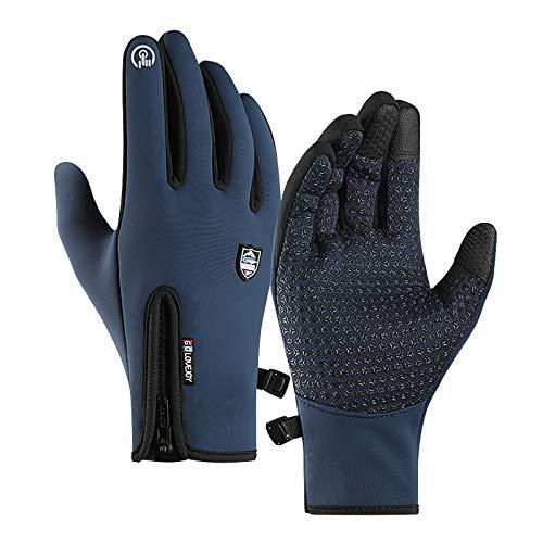 Handschuhe Winter Sport Vollfingerhandschuhe halten den Touchscreen für Männer und Frauen Winddicht, Fahrradhandschuhe rutschfest und samtleicht beim Bergsteigen wasserdichte Windschutzhandschuhe